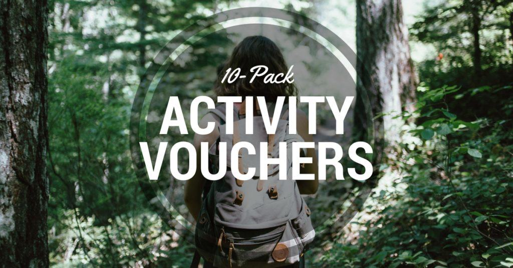 activity vouchers 10 pack