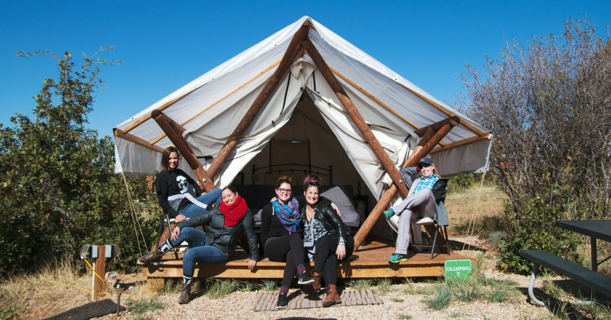 spark womens retreat glamping package options