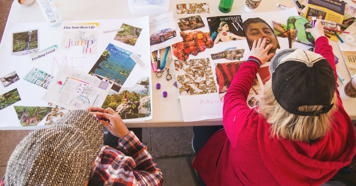 spark womens retreat vision boards