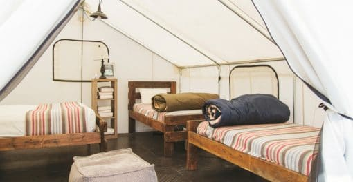 spark classic glamping inside