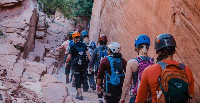 spark classic womens retreat zion national park canyoneering